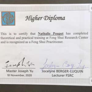 Fengshui-Lyon-Diplome